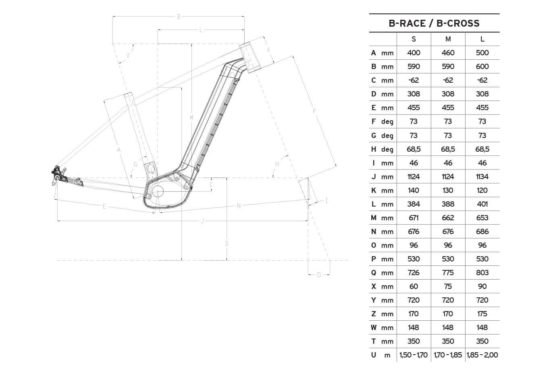 Atala B-Race 600 geometrie